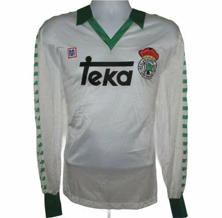 1987-1988 Racing Santander Player Issue Home Football Shirt #5, Meyba, XL W/Tags